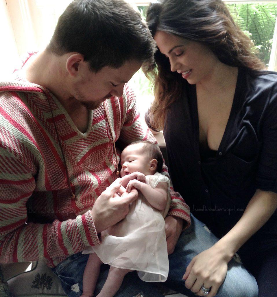 Ченнинг Татум с женой Дженной и дочерью Эверли Элизабет