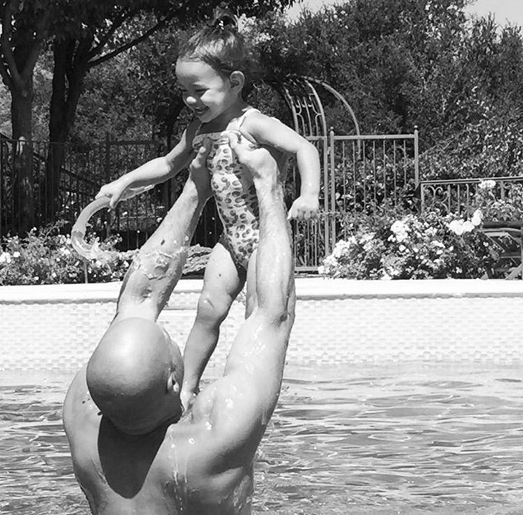 Вин Дизель с дочерью Ханией Райли