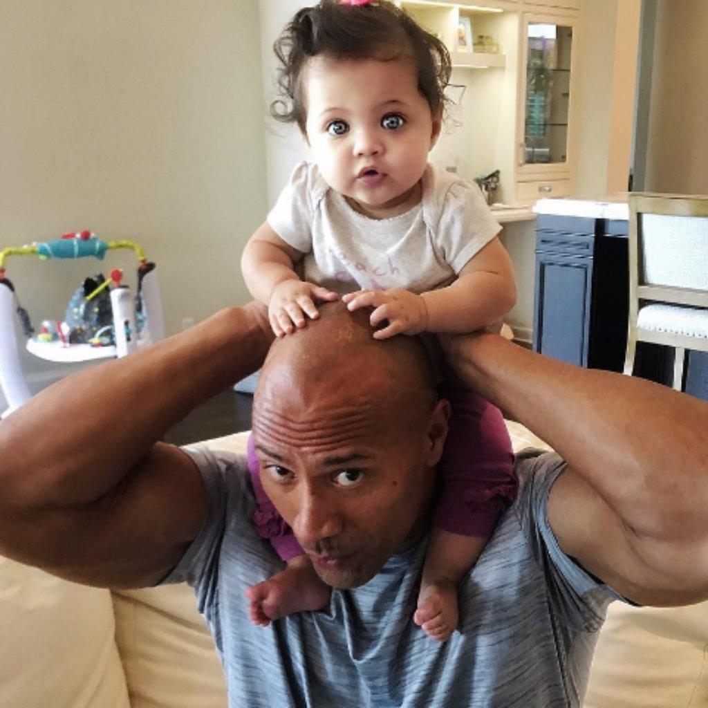 Дуэйн Джонсон с дочерью Жасмин