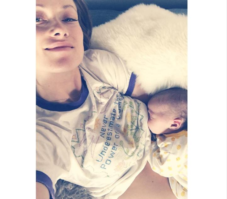 Оливия Уайлд с дочкой