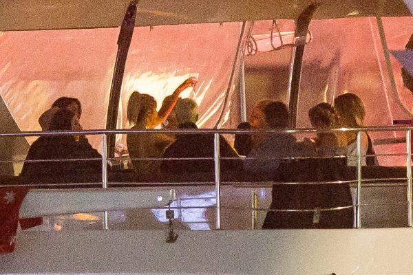 Джастин Бибер на яхте в Мельбурне