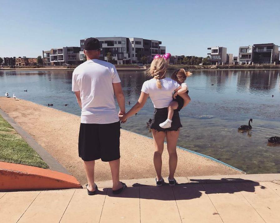 Кайша Луис с мужем и дочкой