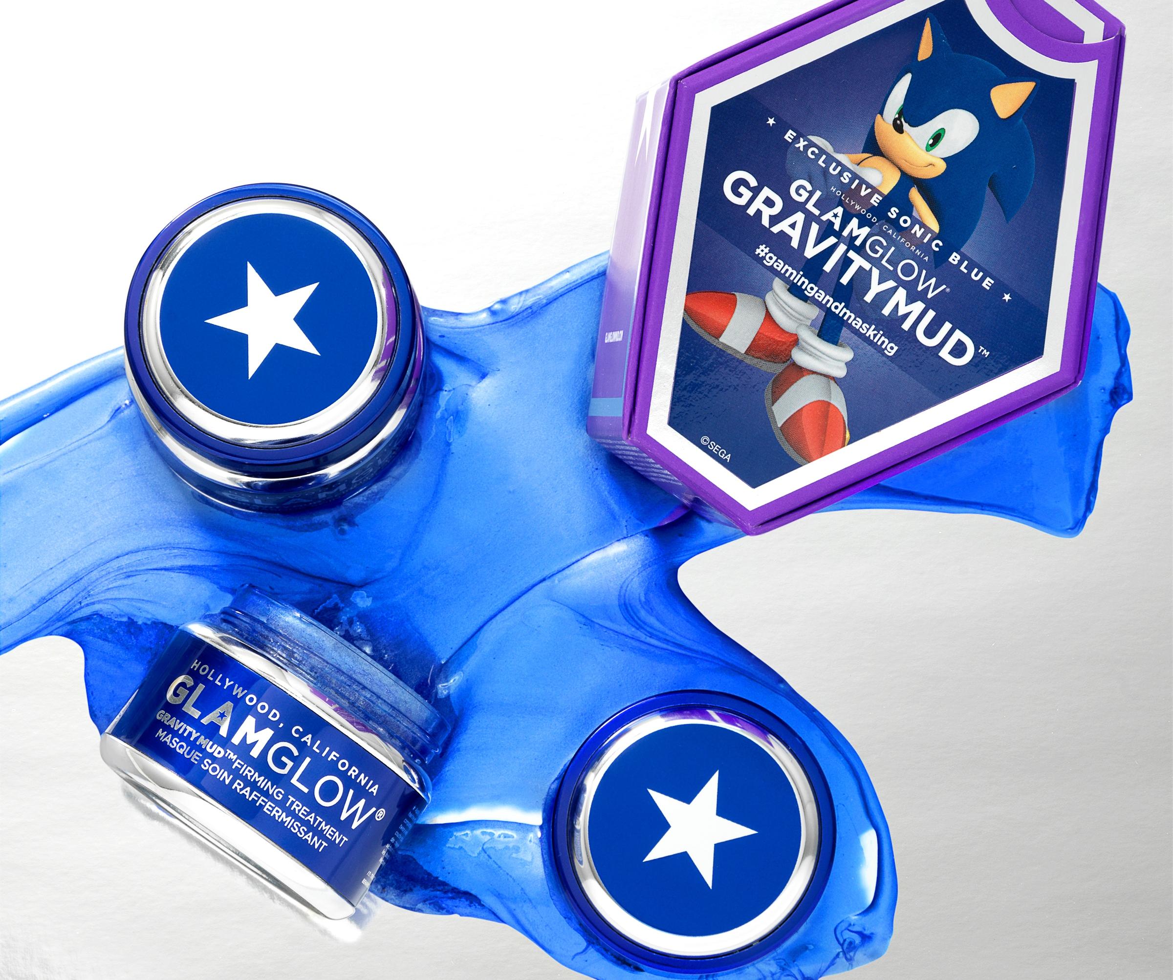 Лимитированная синяя маска Sonic Blue Gravitymud™ Glamglow