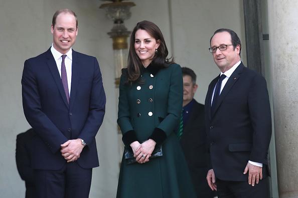 Принц Уильям, Кейт Миддлтон и Француа Олланд
