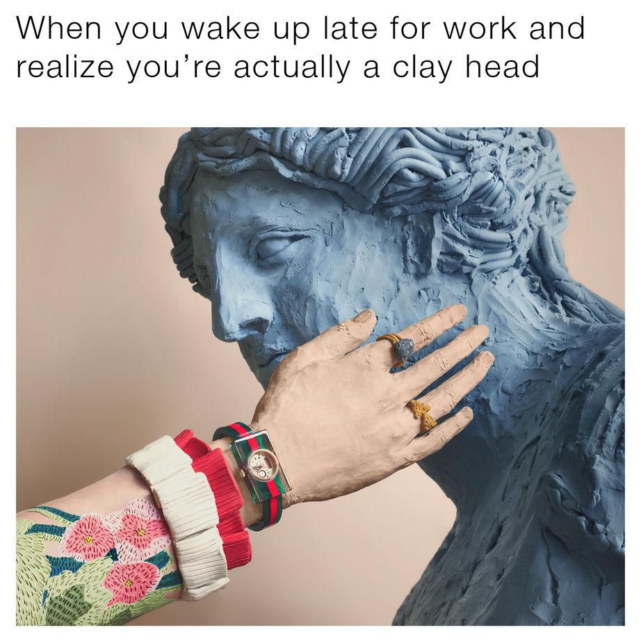 «Когда ты проснулся на работу позже, чем требуется, а потом осознал, что всего лишь глиняная голова».