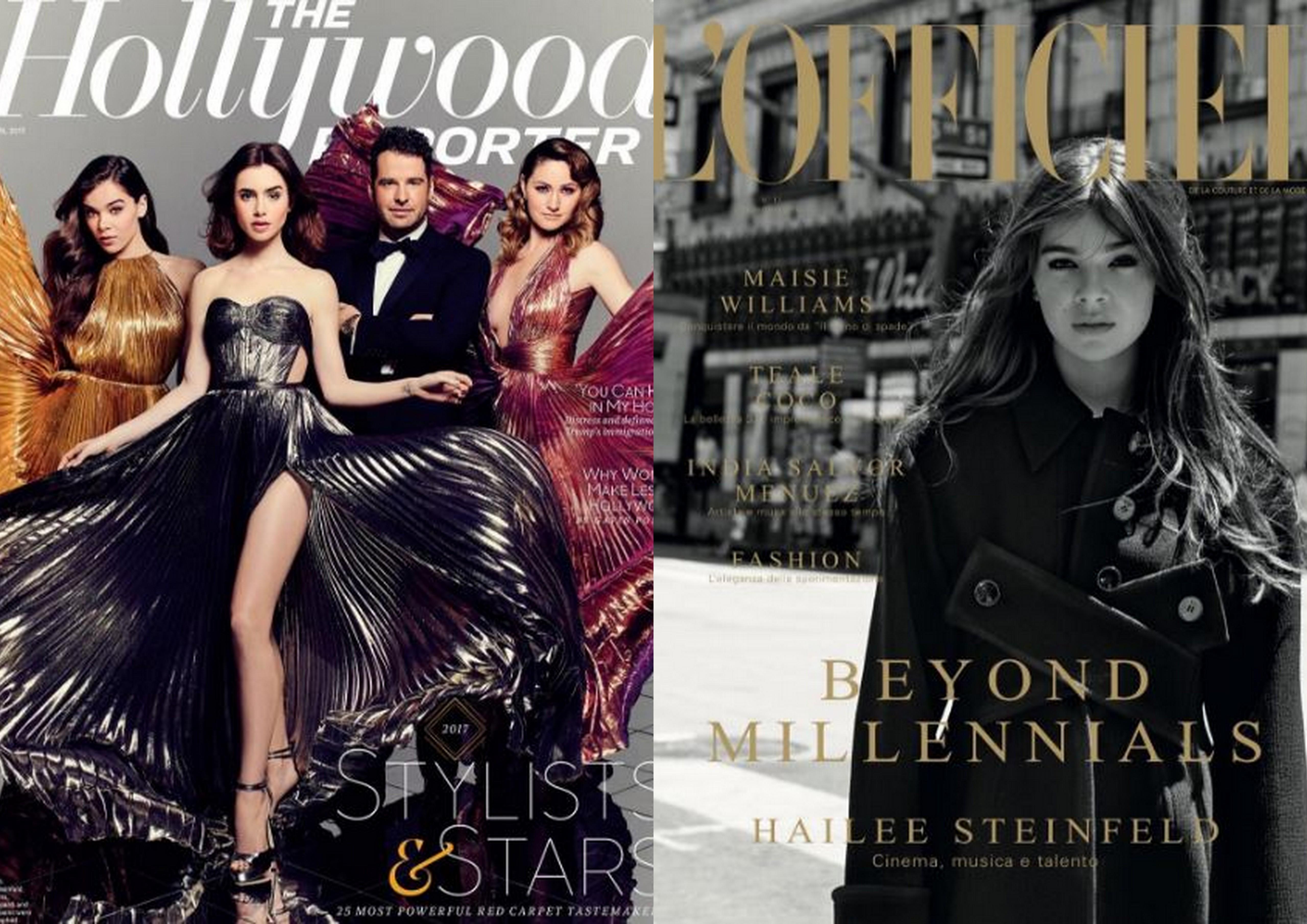 Хейли на обложках Hollywood Reporter и L'Officiel