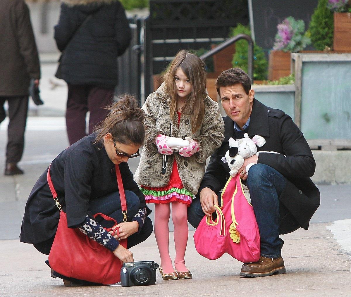 Том Круз, Кэти Холмс и дочка Сури