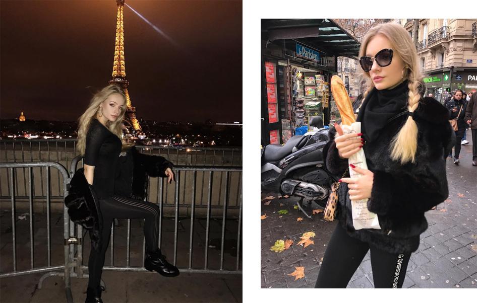 Лиза Пескова в Париже
