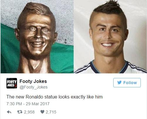 Новая статуя Роналдо выглядит в точности как он