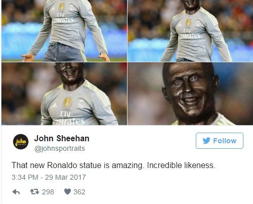 Невероятная статуя. Поразительное сходство