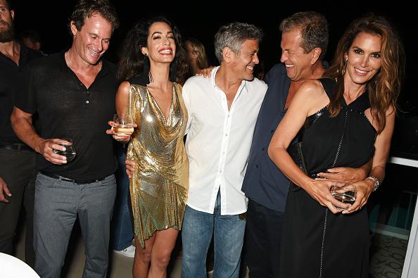 Рэнди Гербер, Амаль Клуни, Джордж Клуни, Марио Тестино и Синди Кроуфорд