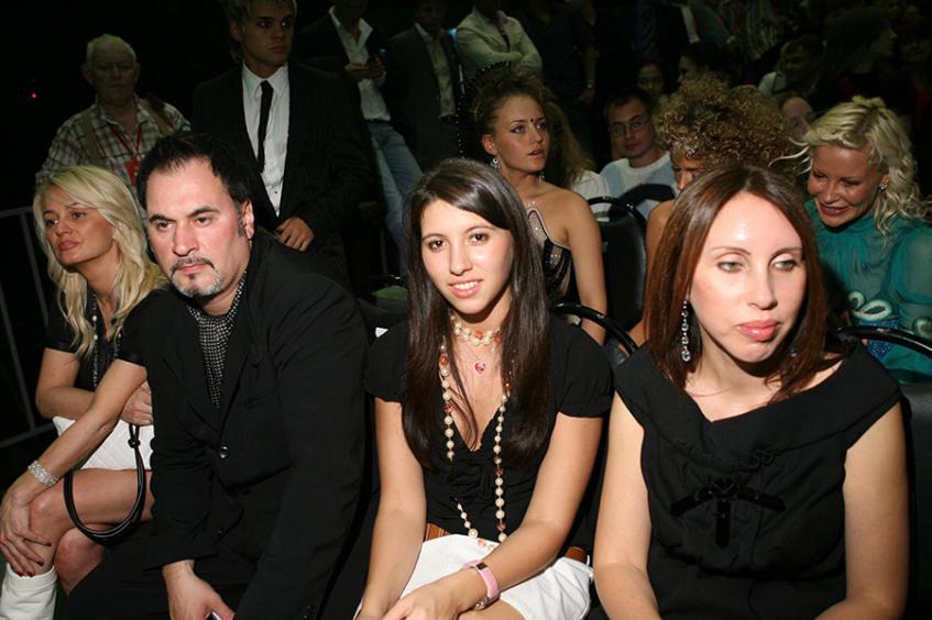 Валерий Меладзе с дочерью Ингой и бывшей женой Ириной