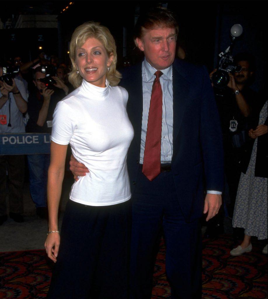 Дональд Трамп и Марла Мэйплс