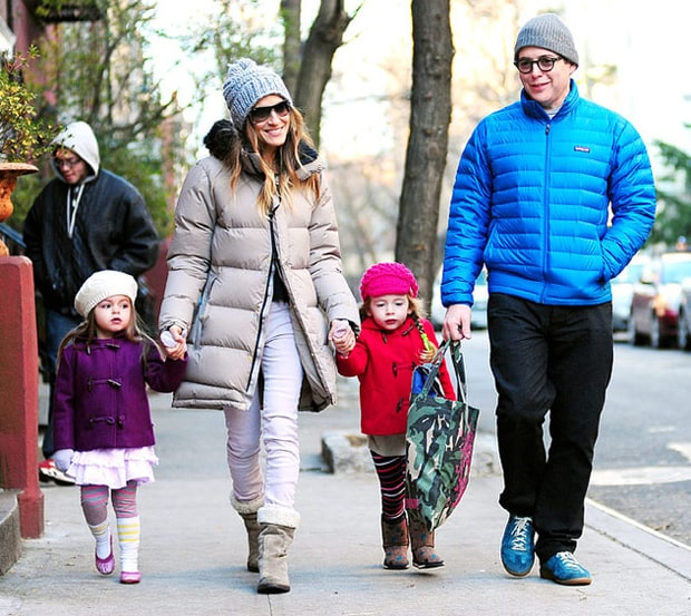 Сара Джессика Паркер и Мэттью Бродерик с детьми