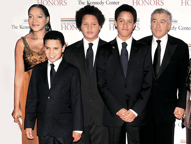 Роберт Де Ниро с детьми