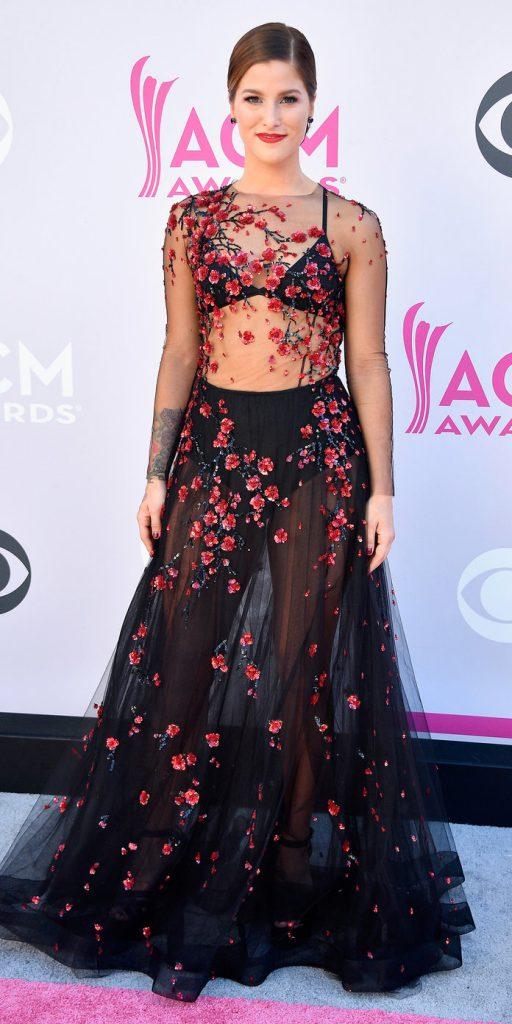 Касадеи Поуп в платье Yanina Couture