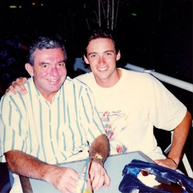 Хью Джекман с отцом