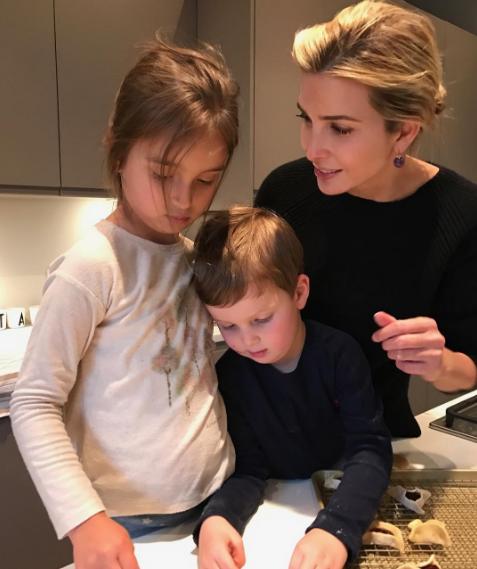 Иванка Трамп с детьми