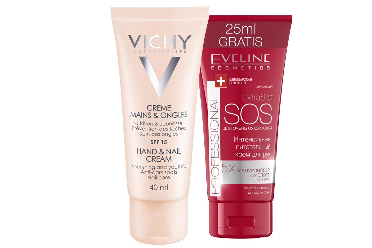 кремы для рук Vichy и Eveline
