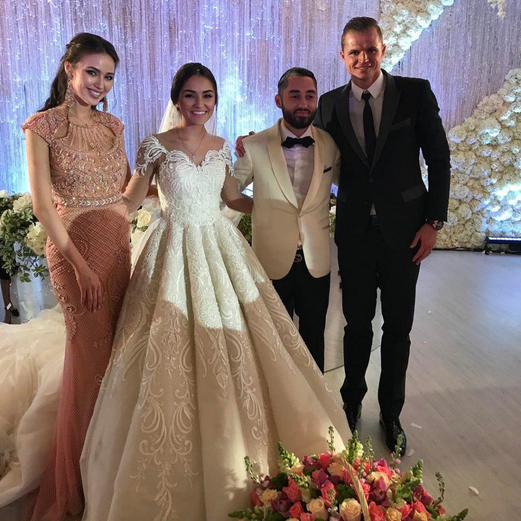 Дмитрий Тарасов и Анастасия Костенко на свадьбе Марии Мельниковой и Мота