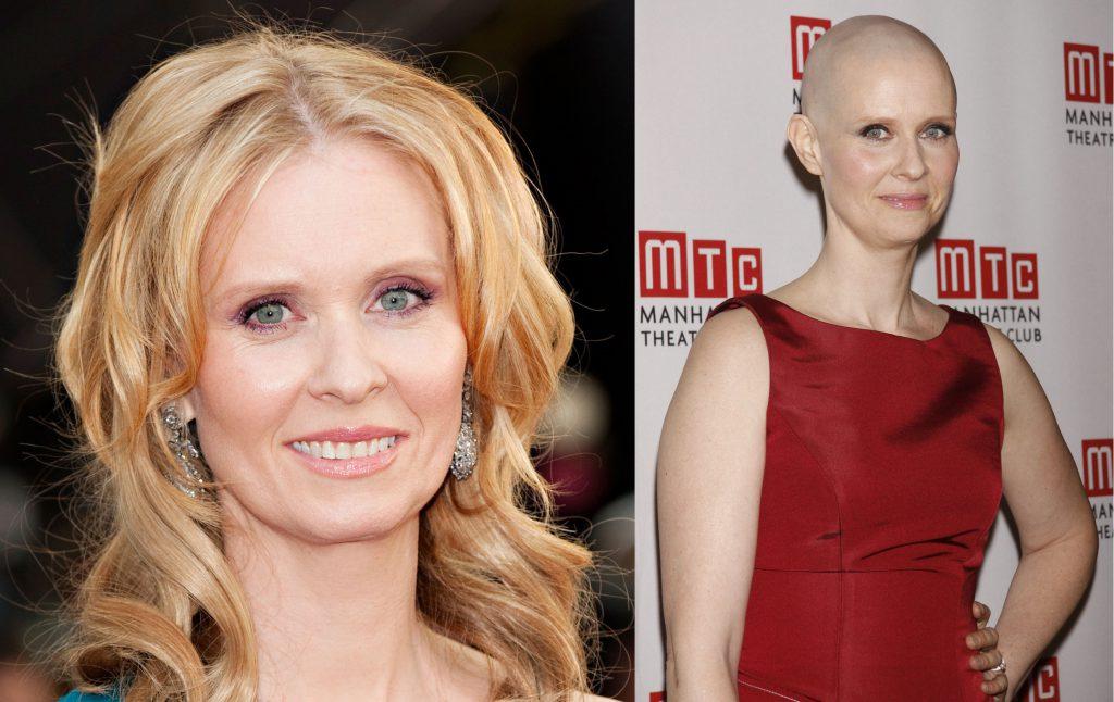 2012 году, чтобы сыграть профессора, больного раком, в спектакле Wit, Синтия Никсон (51) стала лысой.