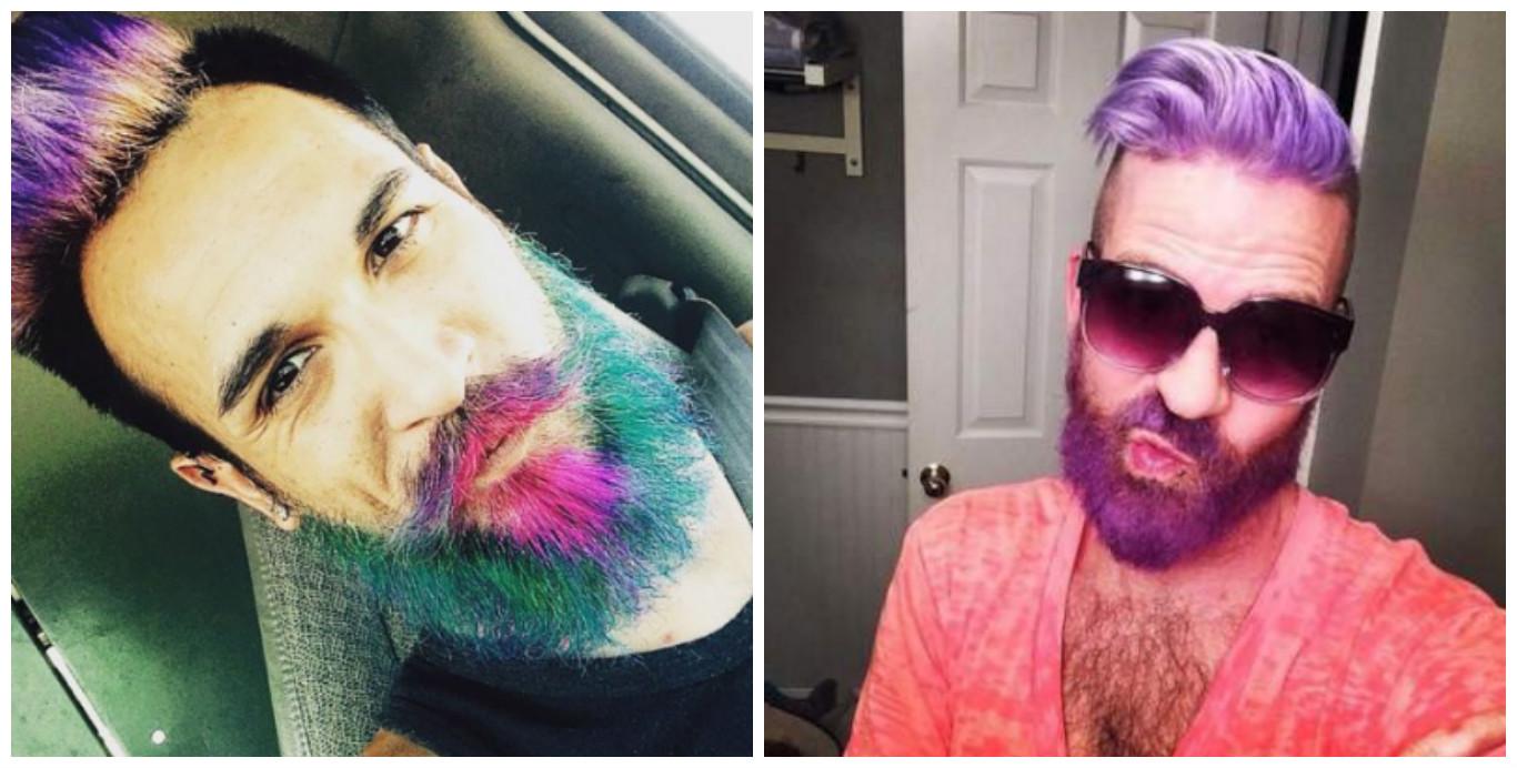 Блестящие и цветные бороды