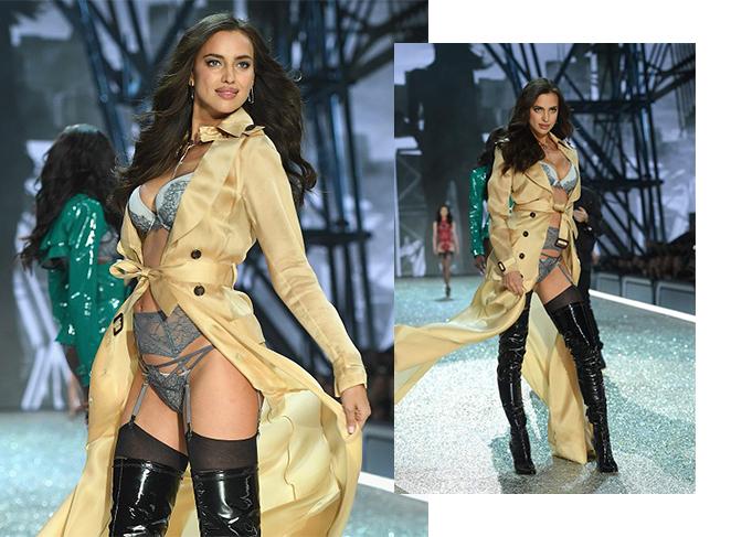 Беременная Ирина Шейк на показе Victoria's Secret