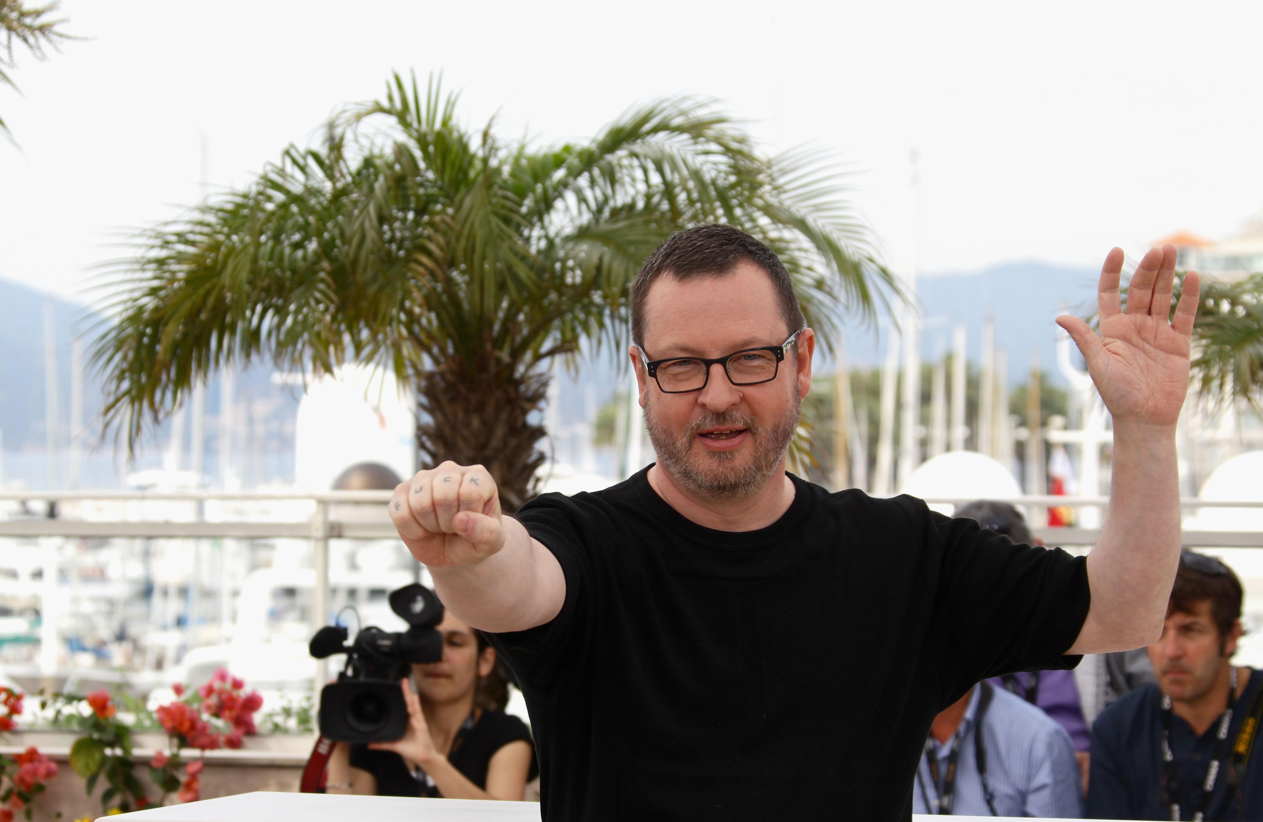 Ларс Фон Триер на Каннском кинофестивале в 2011 году