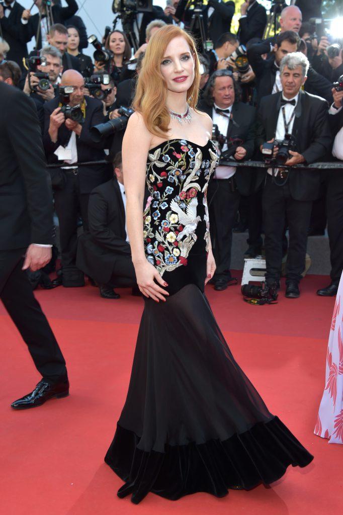Джессика Честейн в платье Alexander McQueen