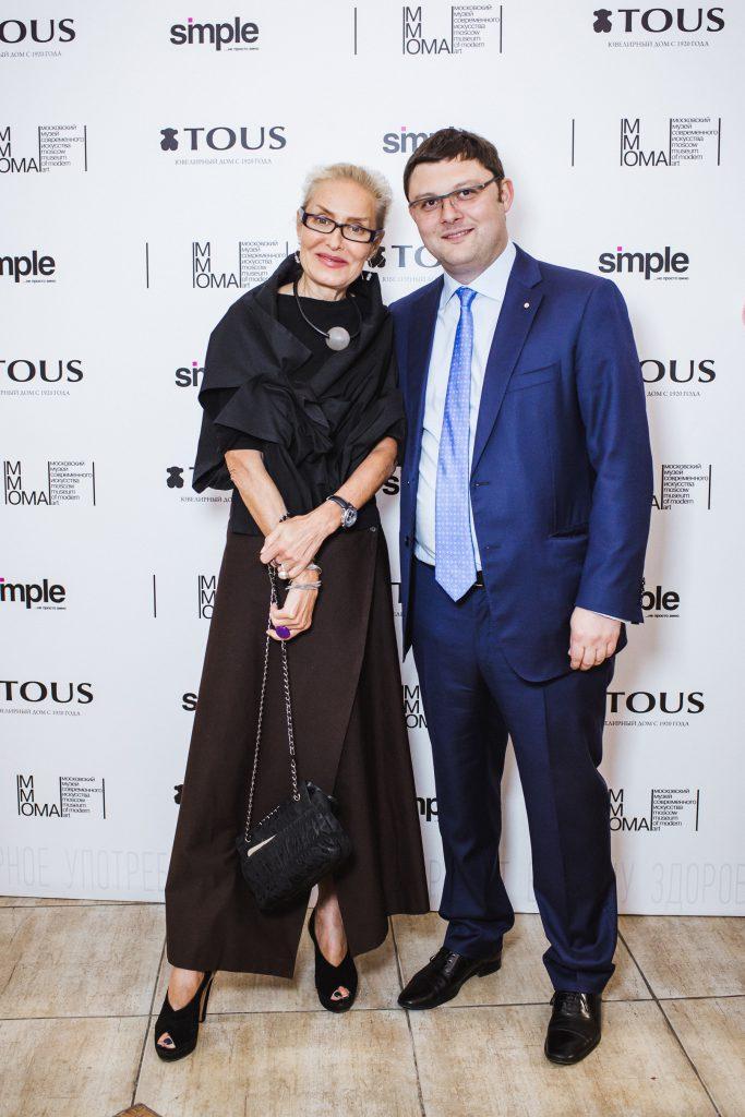 Ольга Свиблова и Василий Церетели