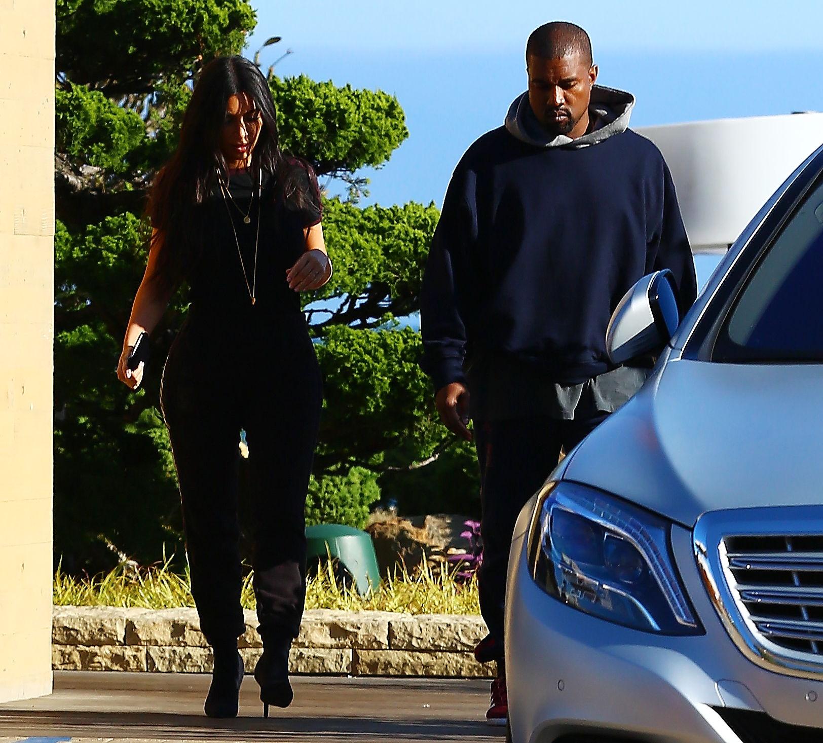 Ким и Канье на обеде в Малибу