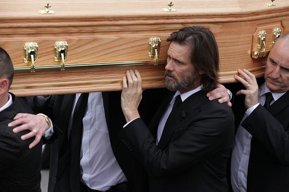 Джим Керри на похоронах Катрион Уайт