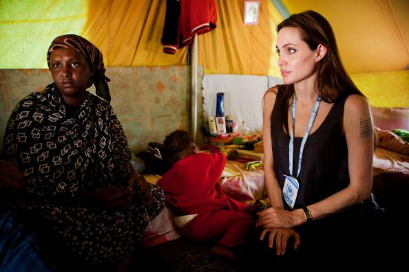 UNHCR Goodwill Ambassador Angelina Jolie Visits Somali Refugees In Tunisia