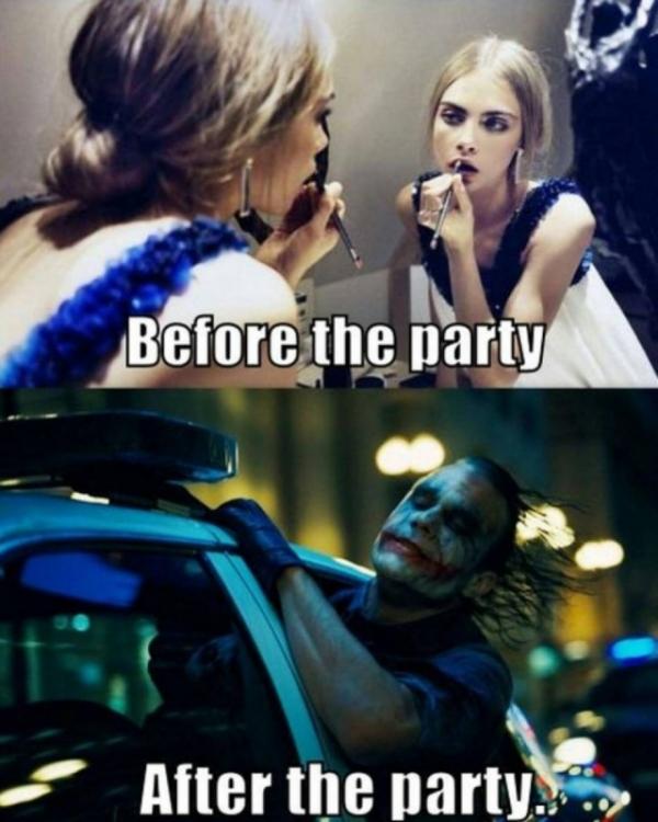 Я до вечеринки и после