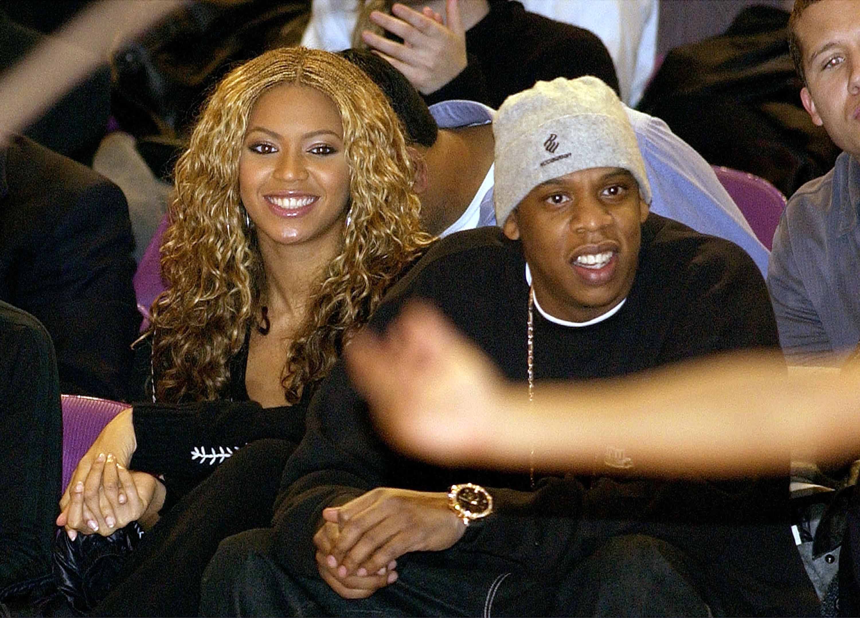 Бейонсе и Джей Зи в 2002 году