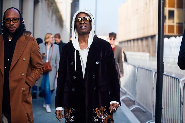 A$AP Rocky на Неделе моды в Милане