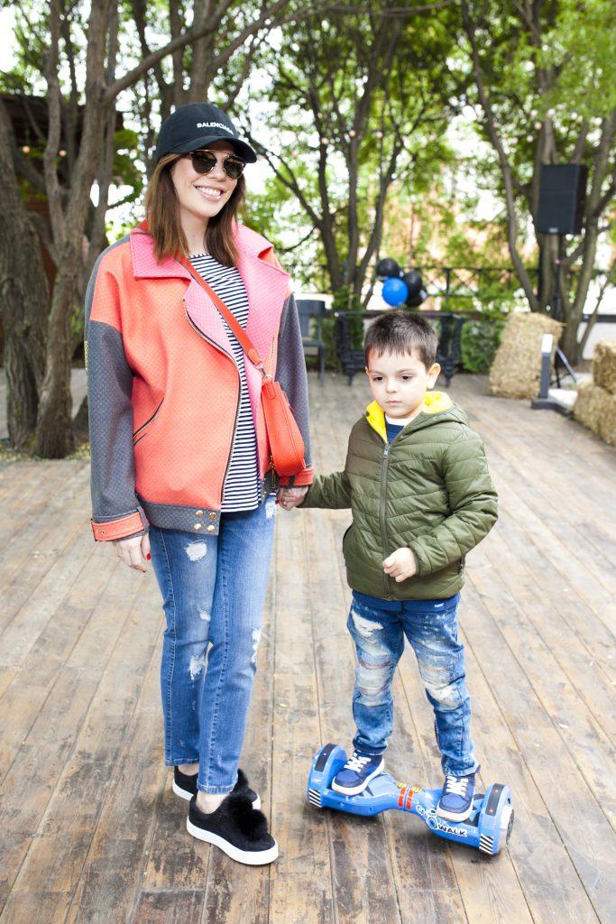 Анастасия Стоцкая с сыном