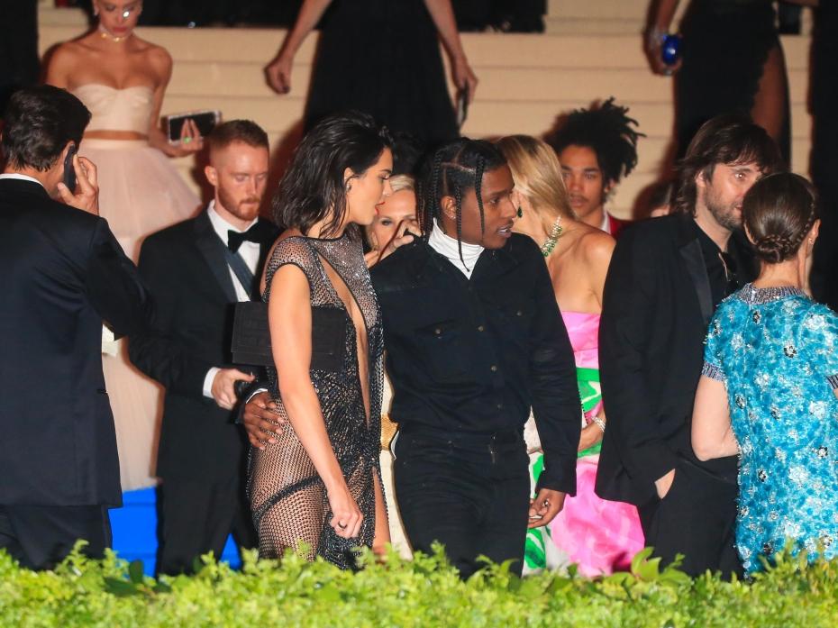 Кендалл Дженнер и A$AP Rocky на Met Gala