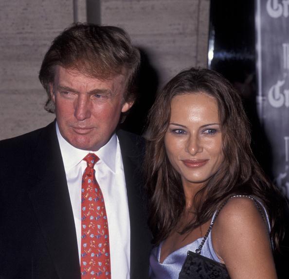 Мелания и Дональд Трамп в 1998 году