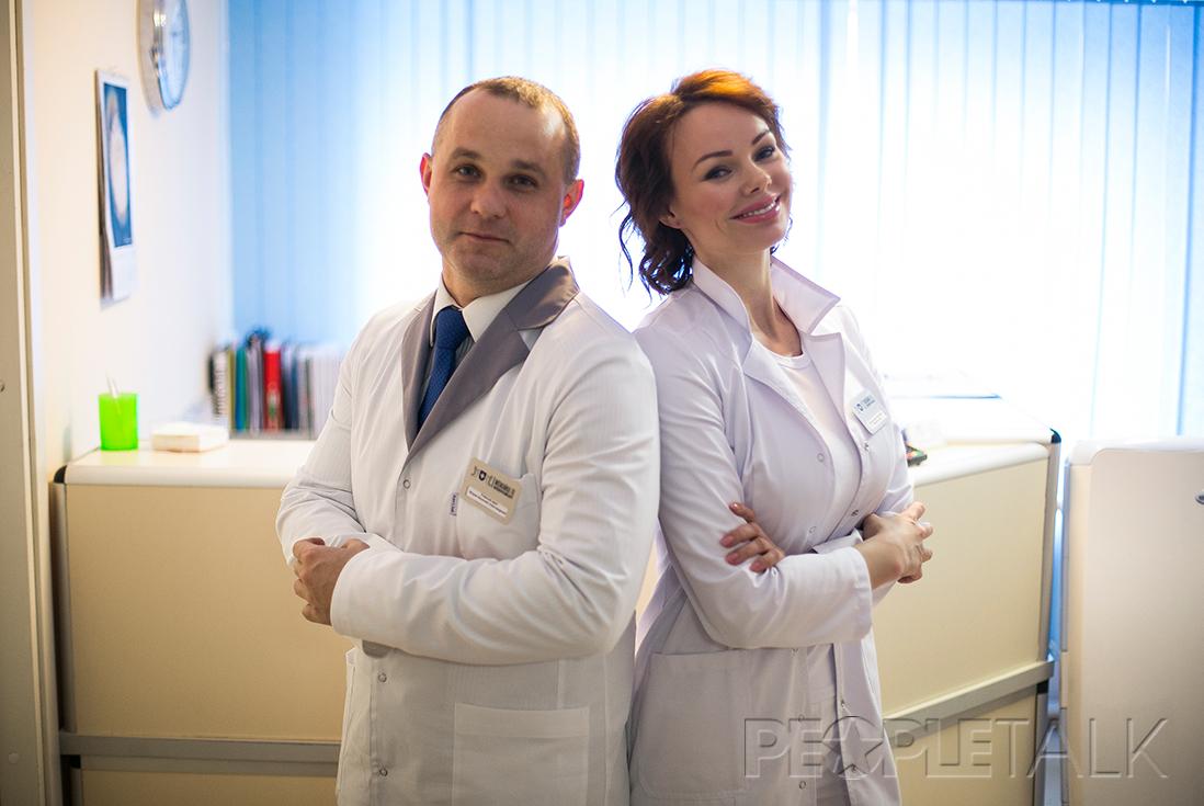 Василий Шуров (главный врач центра «Можайка 10») и Мария Фролова
