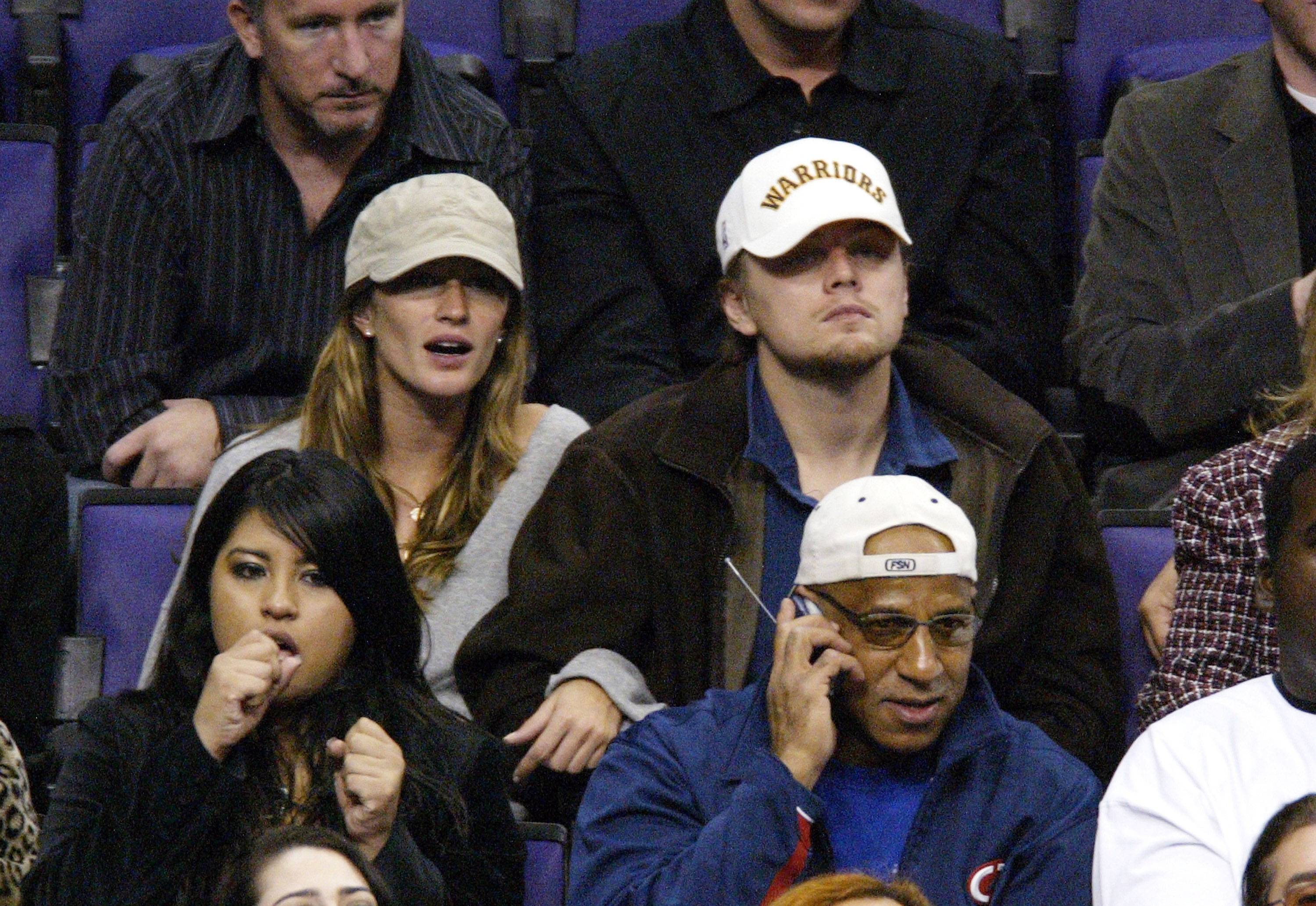 Celebrities At Lakers-Spurs Game