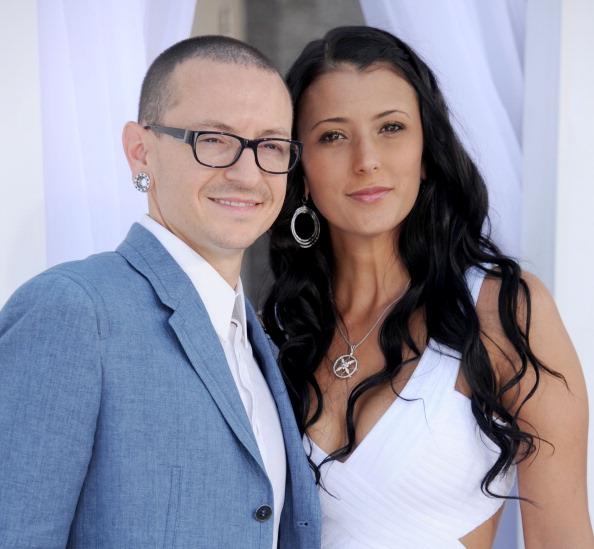 Честер Беннингтон с женой Талиндой