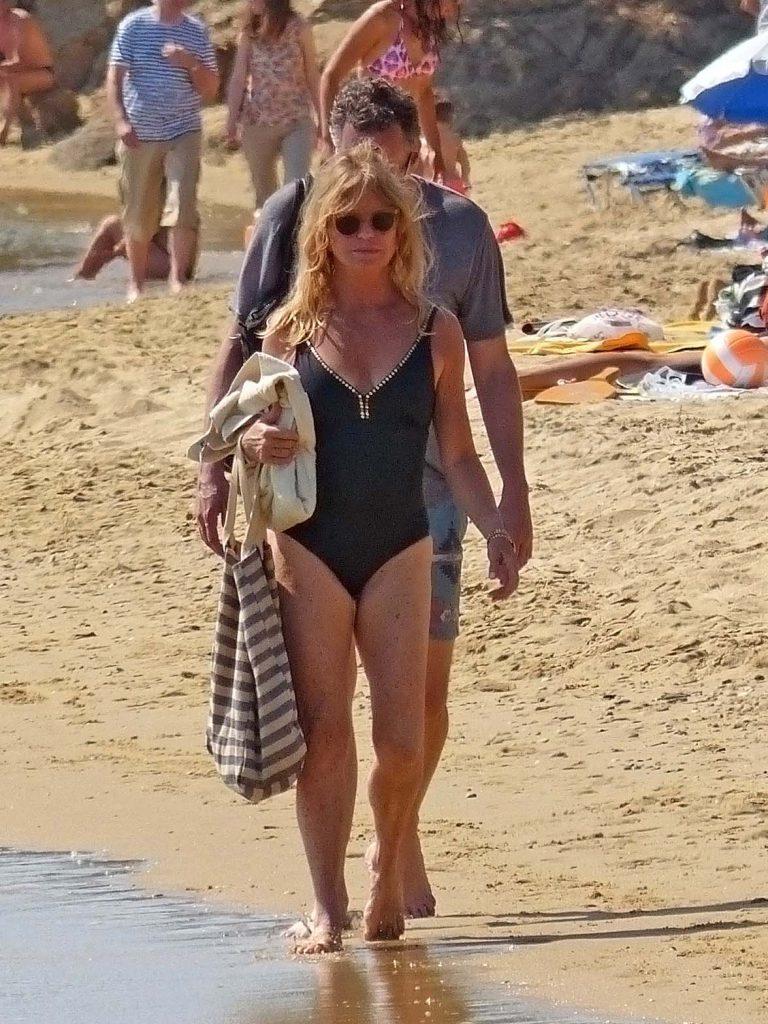 Голди Хоун в Греции в 2015 году