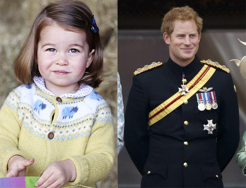 Принцесса Шарлотта и принц Гарри