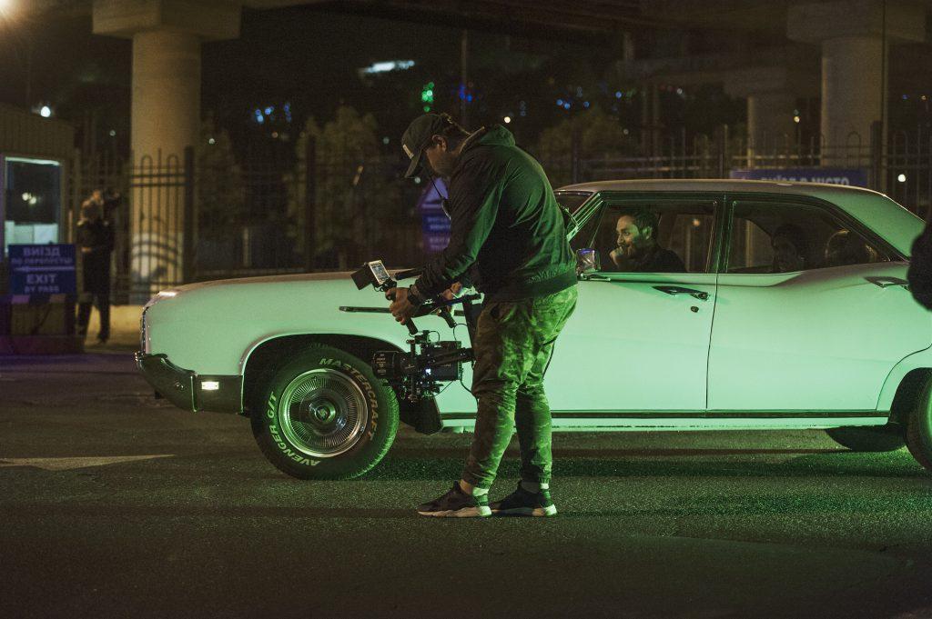 Фото со съемок клипа «Пена»