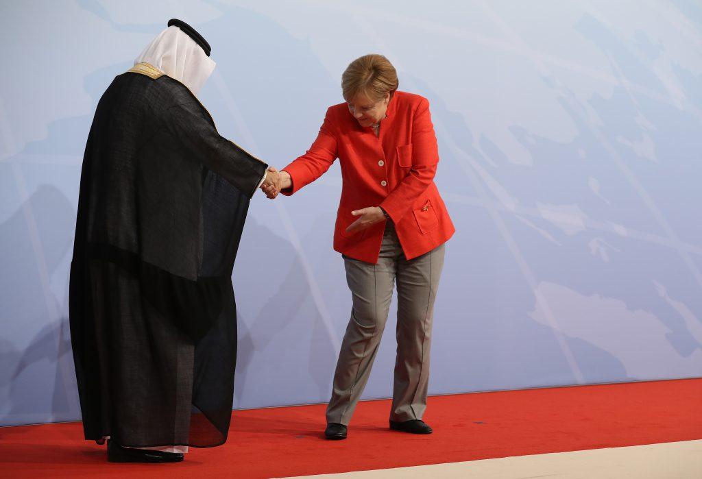 Ангела Меркель и Ибрагим Абдулазиз Аль-Ассаф