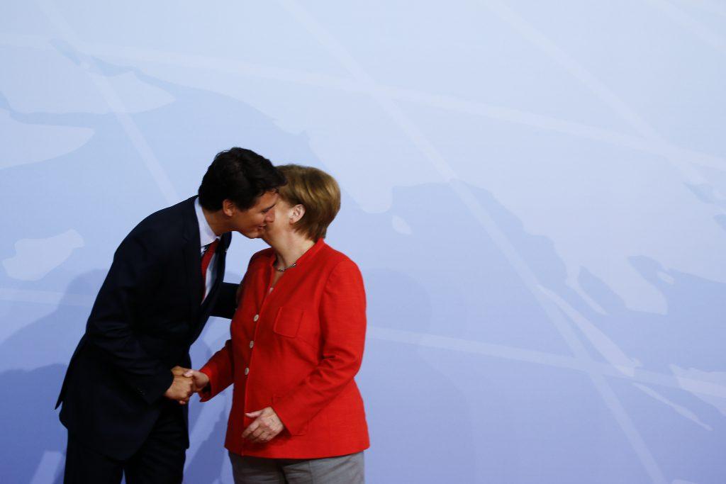 Джастин Трюдо и Ангела Меркель