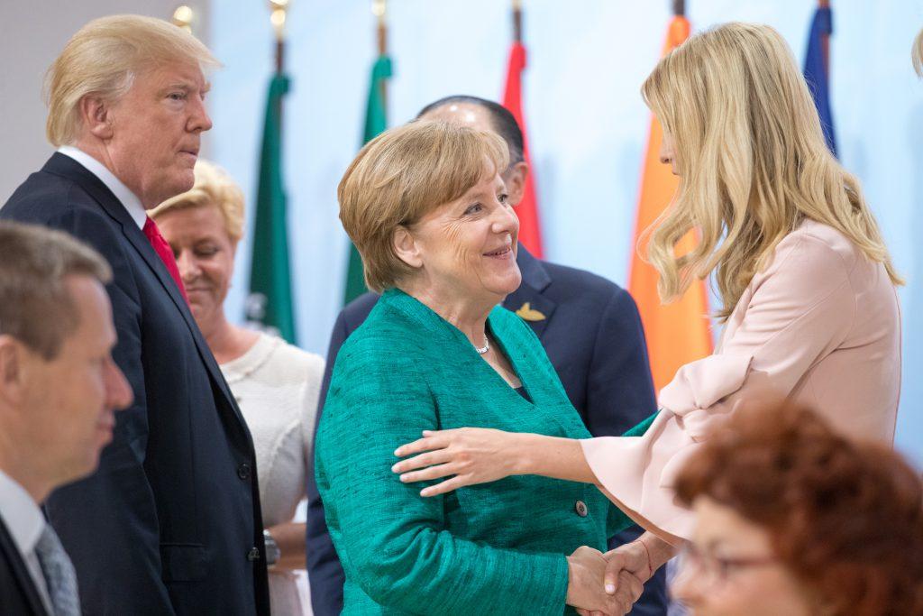 Дональд Трамп, Ангела Меркель и Иванка Трамп