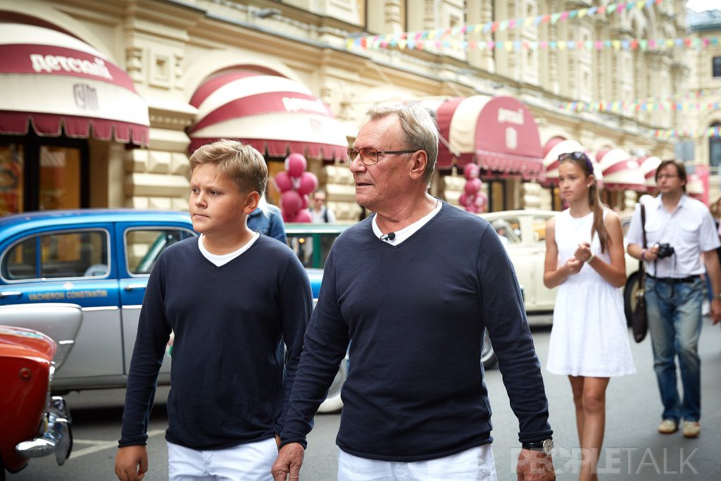 Сергей Шакуров с сыном