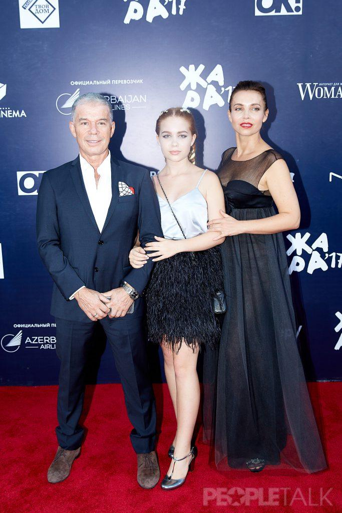 Олег Газманов с дочерью Марианной и супругой Мариной
